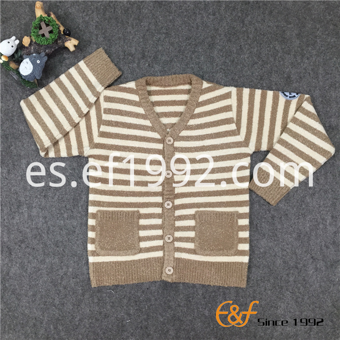children knitting sweater