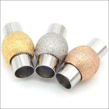 BX002 OEM 2/3/4/5/6 MM Fermeture ronde magnétique en acier inoxydable pour bijoux cordon en cuir Mat Bricolage bijoux Échantillonnage gratuit
