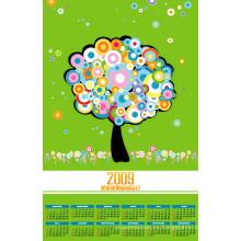 Personalizado Impreso con Fabricación Precio Pared Calendario