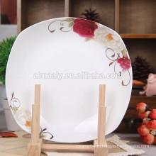 Фарфоровая обеденная тарелка ресторана