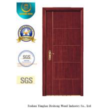 Puerta de diseño moderno MDF para habitación con color marrón (xcl-032)