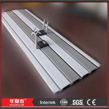 Slatwall painéis de parede de PVC acessórios exposição plástica luminárias