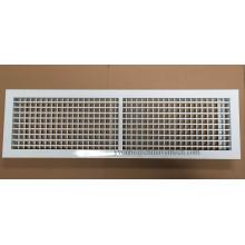 Grille à double déflexion d'alimentation en aluminium de ventilation de systèmes de CVC