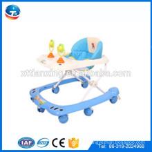 Factory Multi-function Plastic 8 wheels folding round baby walker/New model cheap swivel wheels baby walke sale