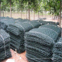 PVC verde revestido após a cesta sextavada galvanizada de Gabion