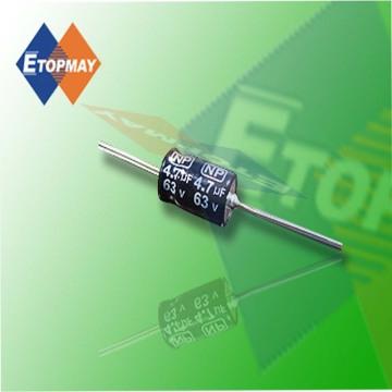 Condensador electrolítico de aluminio bipolar axial Topmay