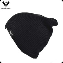 Simple Acrylic Knitted Solid Color Beanie
