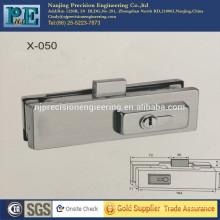 De acero inoxidable de alta resistencia de acero inoxidable de bloqueo de bloqueo para puerta de vidrio