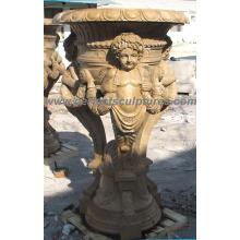 Maceta de jardín de mármol de piedra para el ornamento del jardín (QFP248)