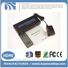 Brand New HDMI switch 5x1 switcher converter adapter Support audio HDMI 1.3 3D video 720p 1080p