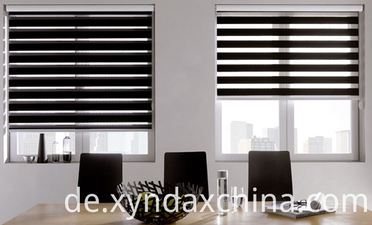 Black Horizontal zebra blinds