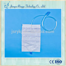 2000ml saco de recolha de urina médica descartável