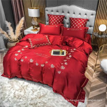 Discount Home Textile Good Quality with Logo Bed Sheet Set 4 PCS