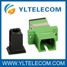 Adaptador de fibra óptica Simplex, SC / APC fibra 0,2 dB pérdida de inserción óptica adaptador