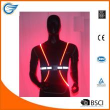 Регулируемый легкий отражающий светодиодный жилет для велосипедиста