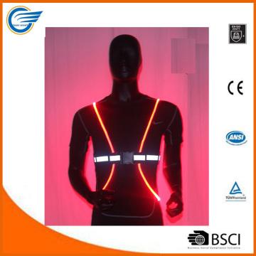 Chaleco reflector ligero ajustable para ciclista