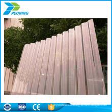 Panneau de toit en polycarbonate ondulé à protection UV