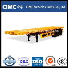 Cimc Flatbed Trailer Airbag Suspension Container Trailer