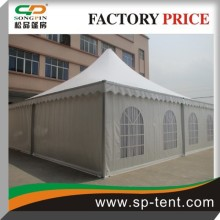 aluminum frame pvc fabric 9x9m Outdoor pagoda tent with lining in promotion