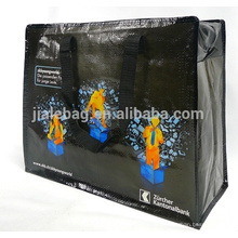 pp woven zipper bag, large size shopping bag with good quality zipper