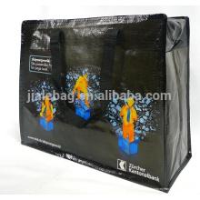PP сплетенный мешок застежки-молнии, большой размер хозяйственная сумка с хорошим качеством молнии