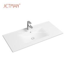 Hotel classical bathroom ceramic hand wash cabinet basin