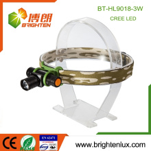 Factory Supply Good Aluminium High Lumen Puissant 1 * aa ou 14500 CREE XPE 3W Focus Zoom Led Rechargeable Headlamp for Outdoor