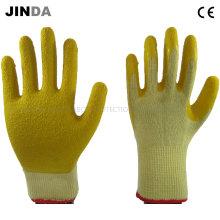 Круглая латексная пряжа вязаная оболочка Защитные защитные перчатки для труда (LS502)
