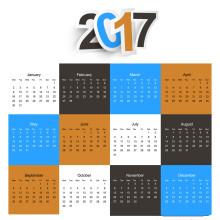 2017 Fancy Design Custom Wall Calendar Printing