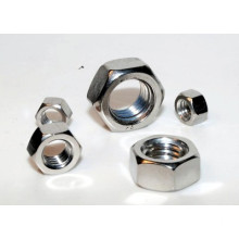 Custom black hexagon Slotted thin nuts