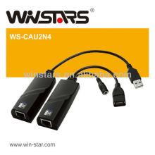 Adaptateur LAN LAN usb 2.0 Extension, câble d'extension USB 2.0, 4 périphériques USB