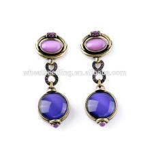 best selling sparkle purple jewelry fashion korean new design earrings