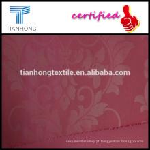 bordado olhar sólido de cor rosa algodão elastano weave de twill imprimiu a tela do spandex