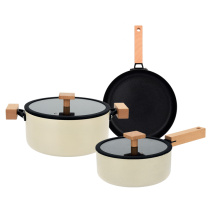 HIgh quality 3pcs aluminium cookware casserole New design
