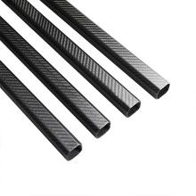 T700 Glossy Plain 6K Carbon Fiber Tube Großhandel