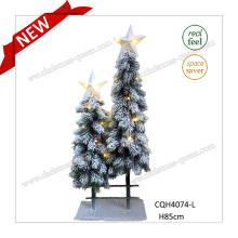 33′′ Plastic White Christmas Tree with LED Lighting up