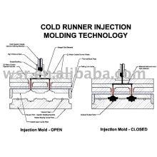 injection de caoutchouc froid runner moule, moule en caoutchouc