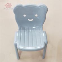 Пластиковый детский стул со спинкой, штабелируемый