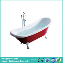 Factory Price Acrylic Classic Bathtub with Aluminum Alloy Paw Foot (LT-10T)