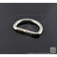 1 pulgada de metal soldado D-Rings 4 mm