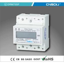 Digits Electric DIN Rail Monofásico Digital Energy Meter