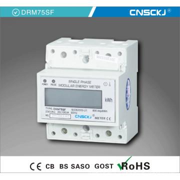 Compteur d'énergie numérique monophasé à rail DIN électrique