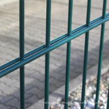 proveedores de malla de esgrima Valla de malla de alambre doble, panel de cerca de alambre doble recubierto de Pvc 868, doble barra
