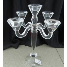 Crystal Candle Holder with Five Posters for Wedding Decoration
