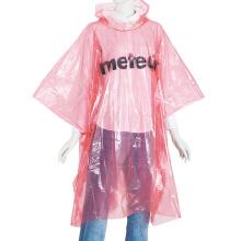 Poncho de pluie jetable de couleur unie PE