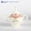15pcs design real cerâmica vasilha chá de açúcar do café definido, antigo porcelana café set