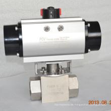 Hochdruckkugelhahn mit pneumatischem Antrieb