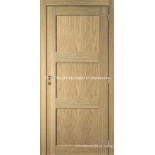 Boa qualidade de carvalho folheado porta moderna MDF