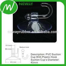45-мм стеклянные столовые присоски с пластиковым крючком
