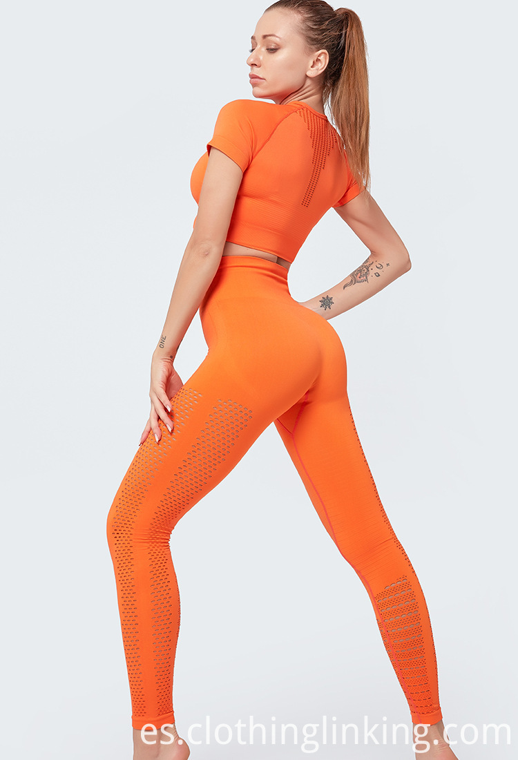 orange gym clothes